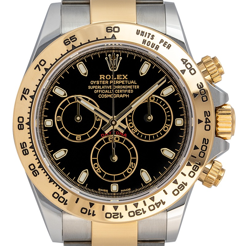 Rolex Daytona Steel & 18ct Yellow Gold Black/Index 116503