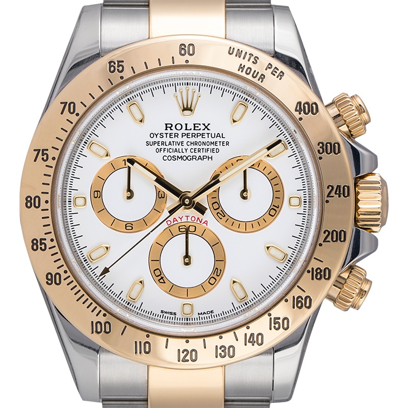Rolex Daytona 18ct yellow gold and stainless steel White/Index Dial 116523