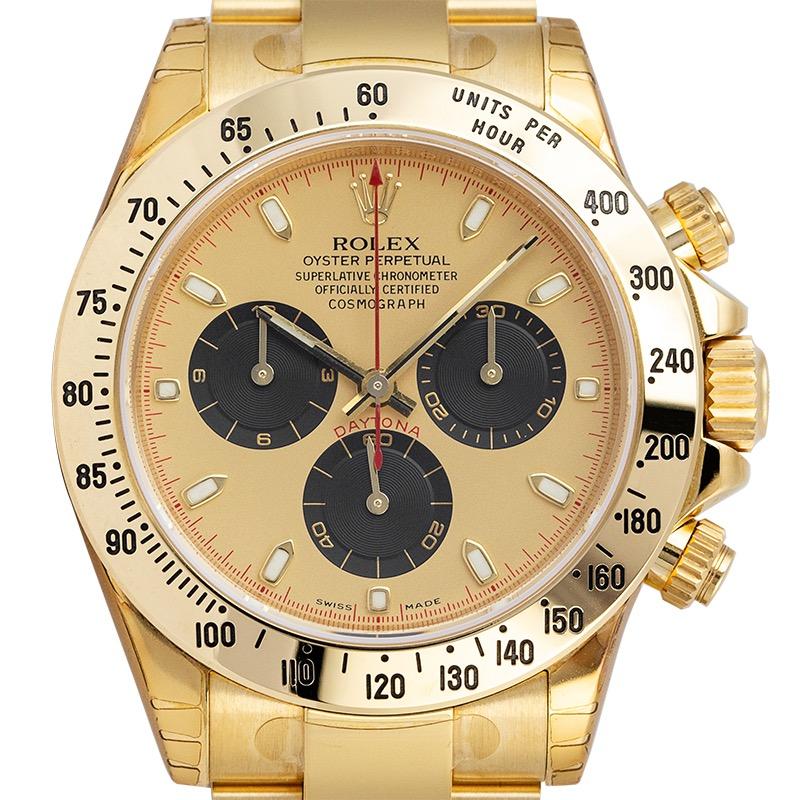 Rolex Cosmograph Daytona Full Yellow Gold Champagne/Black Index 116528