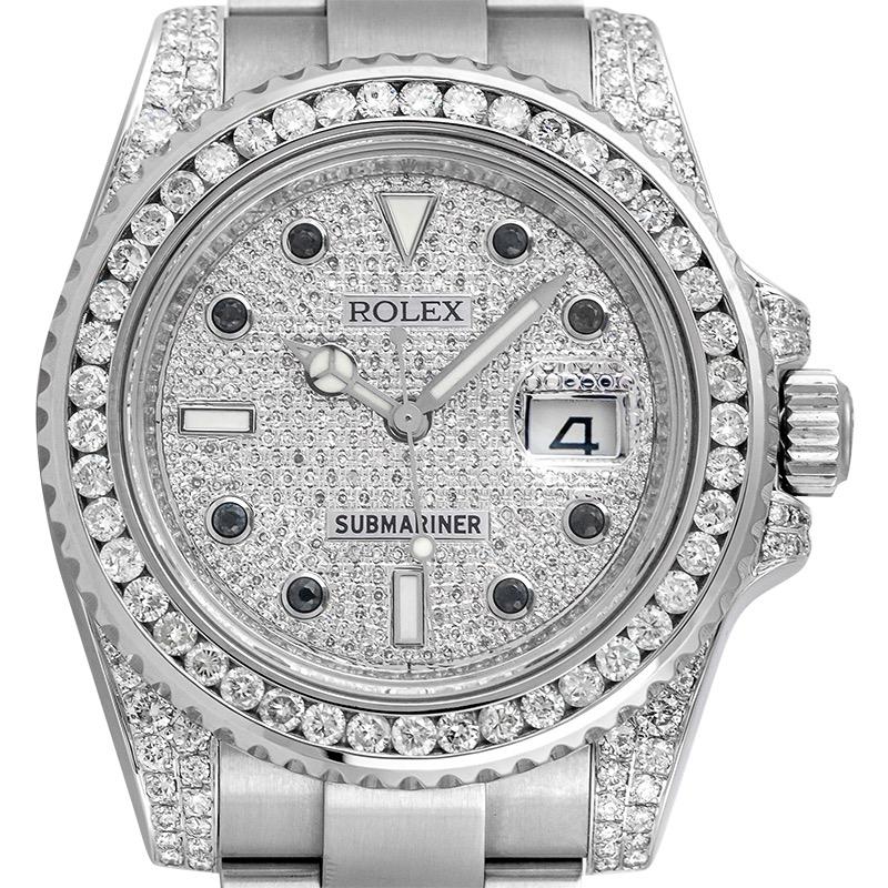 Custom Diamond Set Rolex Submariner Date 116610LN Watch