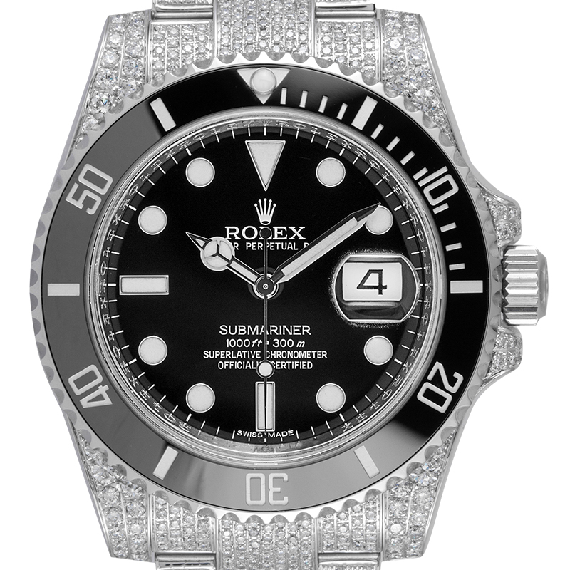 Custom Diamond Set Rolex Submariner Date 116610LN