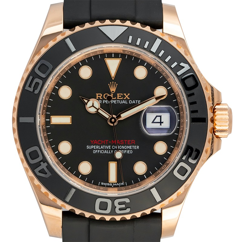 Rolex Yacht-Master 40 18ct Everose Gold Black Dial 116655
