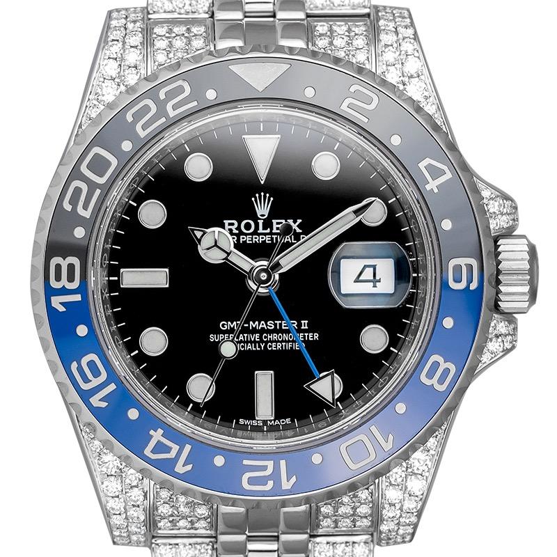 Custom Diamond Set Rolex GMT-Master II 116710BLNR