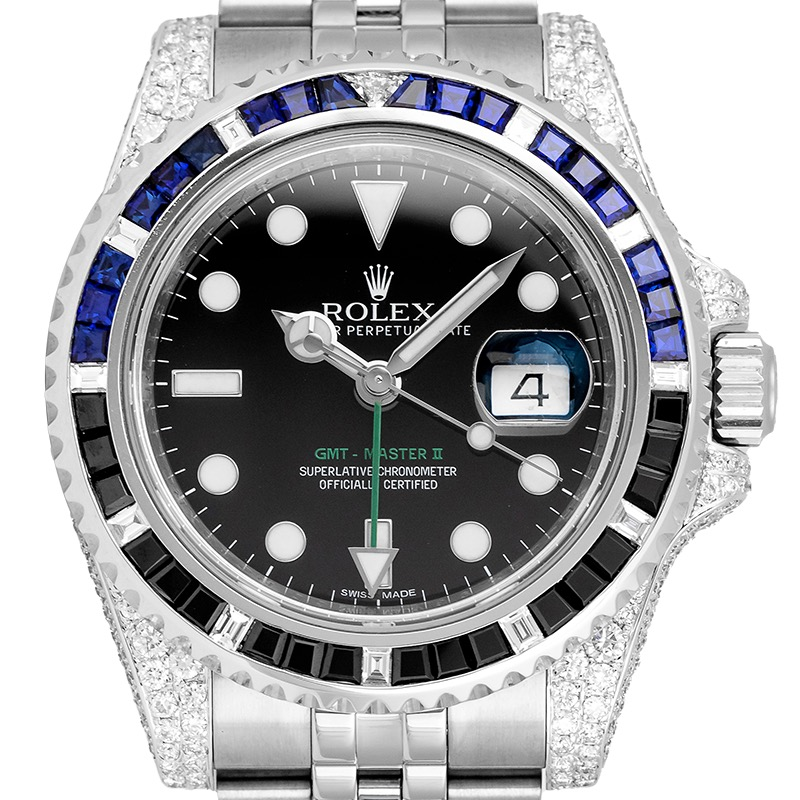 Custom Diamond Set Rolex GMT-Master II 116710LN