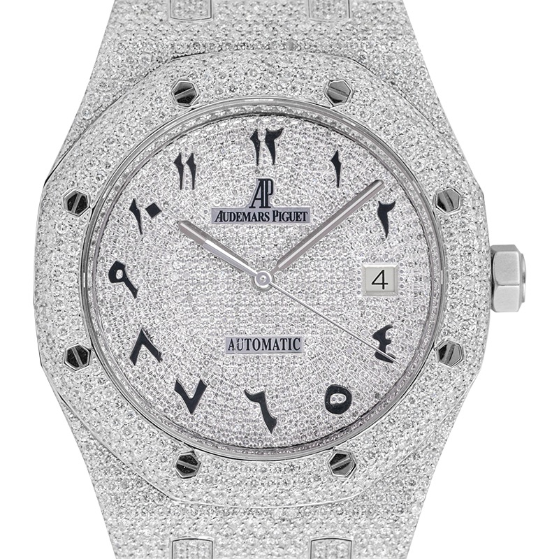 Audemars Piguet Royal Oak 41 Custom Micro Diamond Set Arabic Dial
