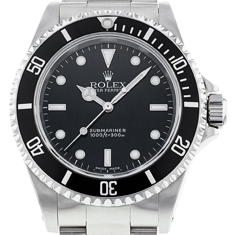 Used Rolex Submariner Non-Date Black Dial 14060 Watch