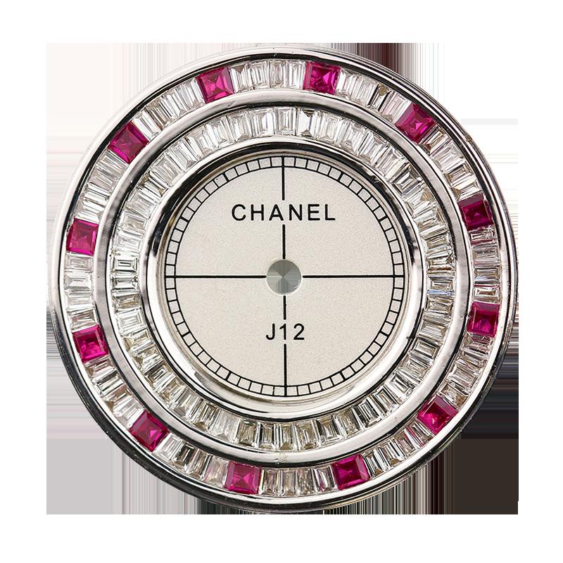 Chanel J12 33mm Baguette Cut Diamond Custom Dial