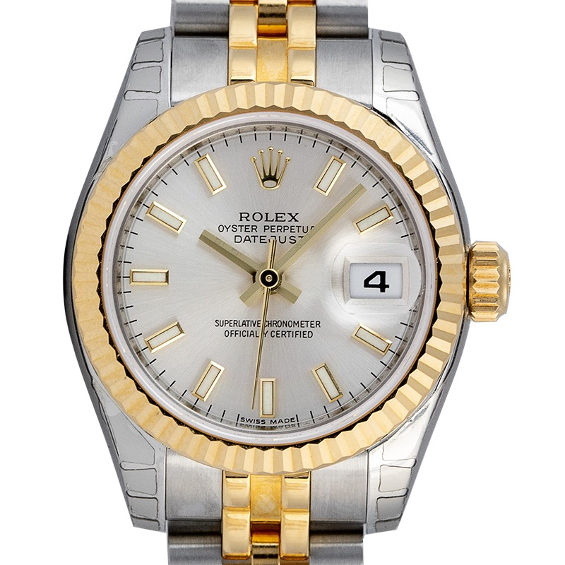 Rolex Lady DateJust 26mm Steel and Yellow Gold Silver Dial 179173