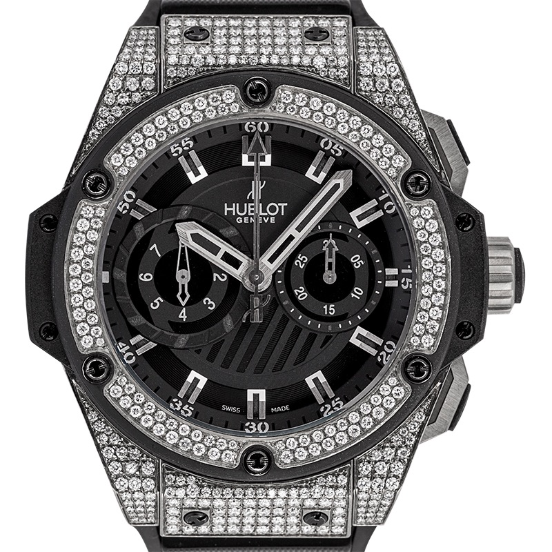 Diamond Set Hublot Big Bang 48mm King Power Foudroyante Zirconium 715.ZX.1127.RX Limited Edition