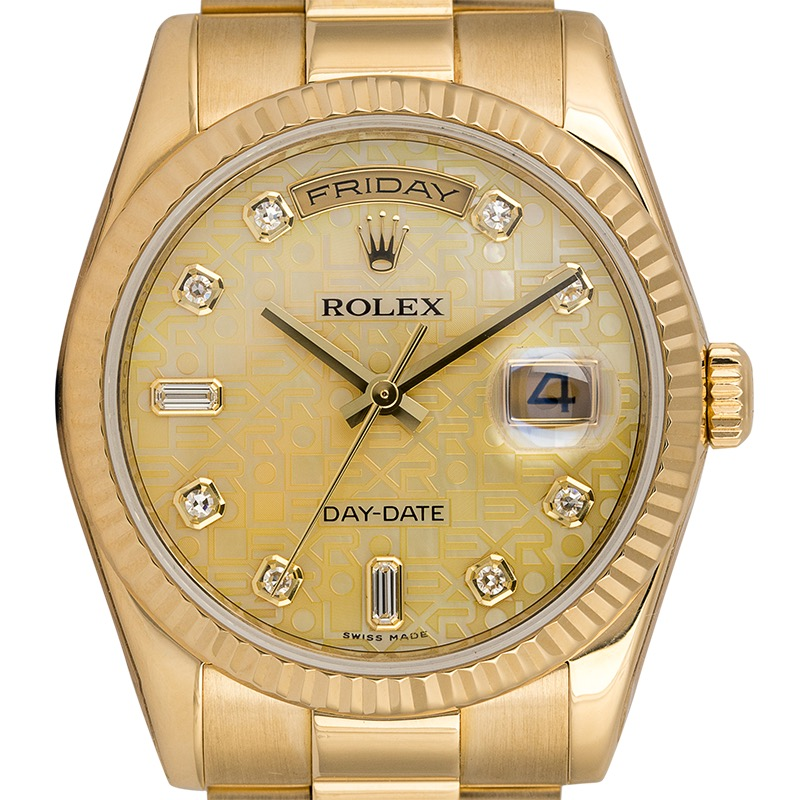 Rolex Day-Date 36 18ct Yellow Gold 118238