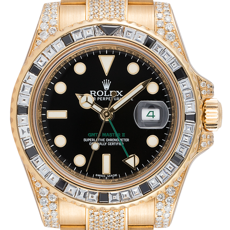 Rolex GMT-Master II 18ct Yellow Gold Diamond Set 116718LN