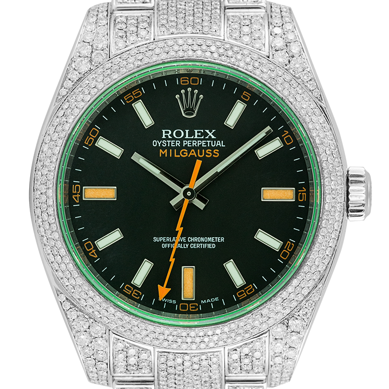 Rolex Milgauss Full Diamond Set 116400GV