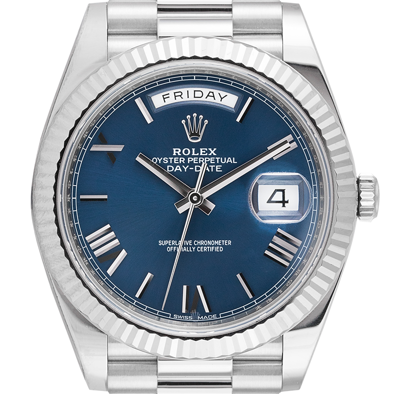 Rolex Day-Date 40 18ct White Gold Blue Dial 228239