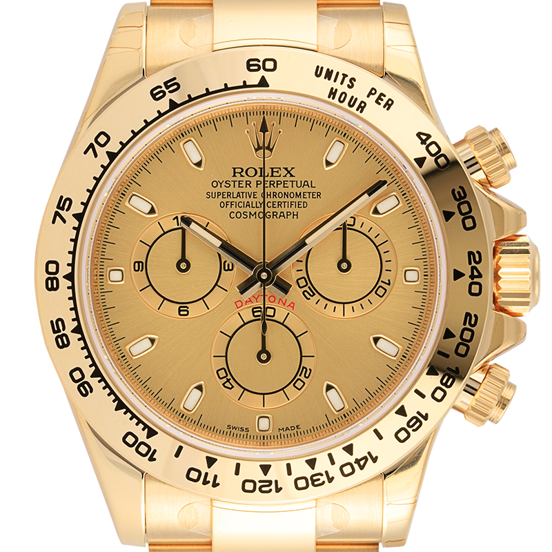 Rolex Cosmograph Daytona 18ct Yellow Gold with Champagne Dial 116508