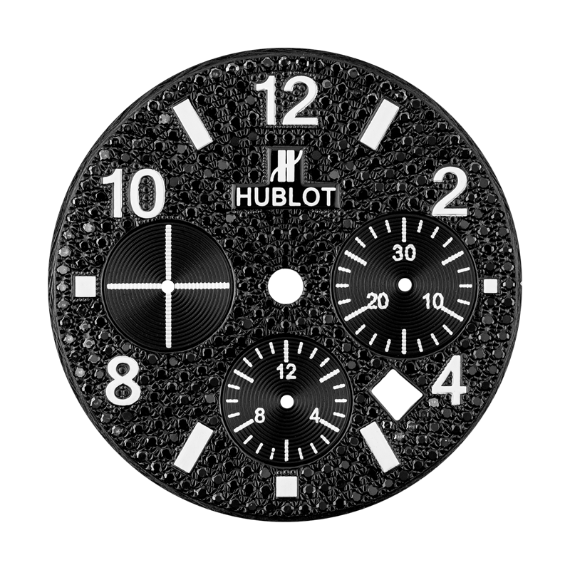Hublot Big Bang 44mm Black Diamond Pave Custom Dial