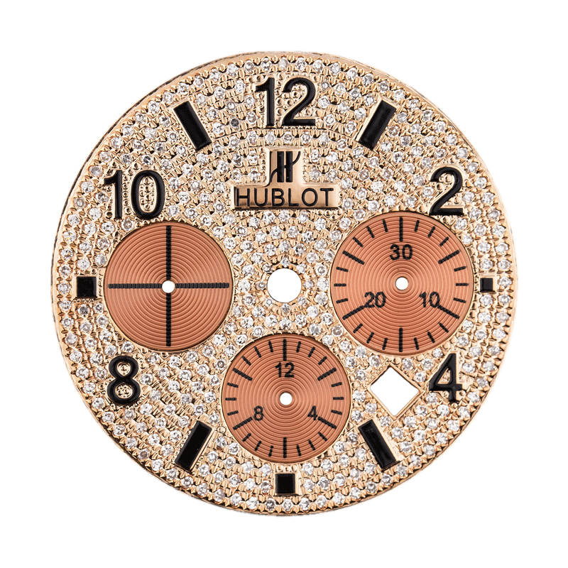 Hublot Big Bang 44mm Rose Gold Diamond Pave Custom Dial