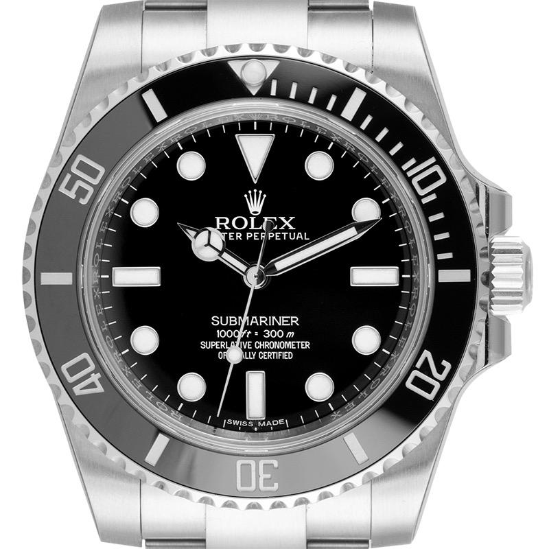 Rolex Submariner Stainless Steel Black/Index 114060