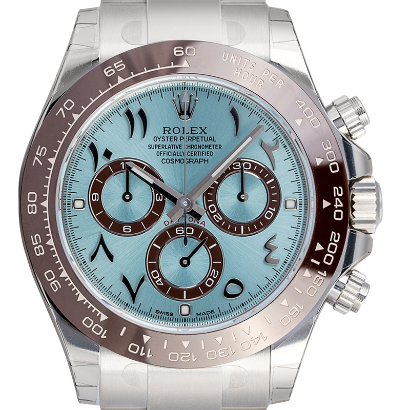 Rolex Daytona Platinum Ice-Blue/Arabic Dial 116506