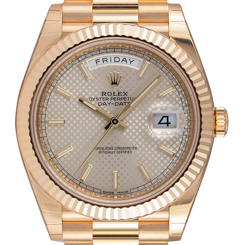 Rolex Day-Date 40 18ct Yellow Gold Diagonal Motif 228238