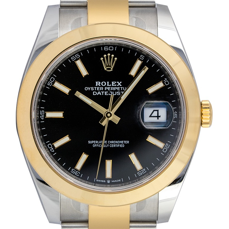 Rolex Datejust 41mm Steel and Yellow Gold Black Dial 126303
