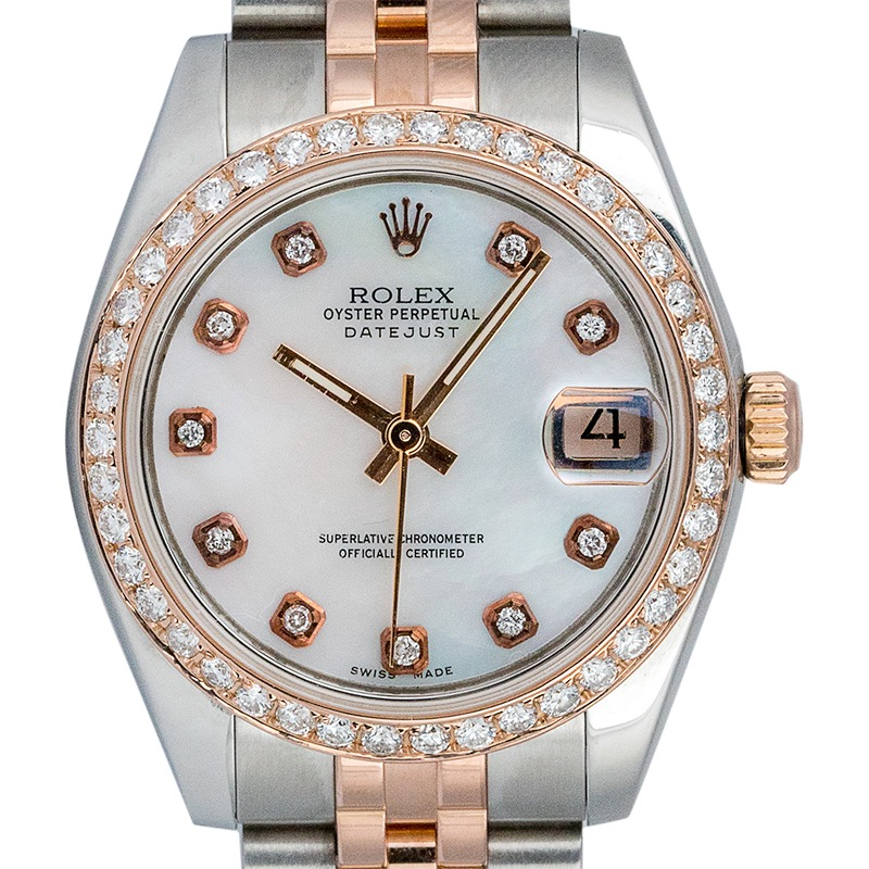 Rolex Datejust 31 Steel and 18ct Everose Gold with Custom Dial and Custom Bezel