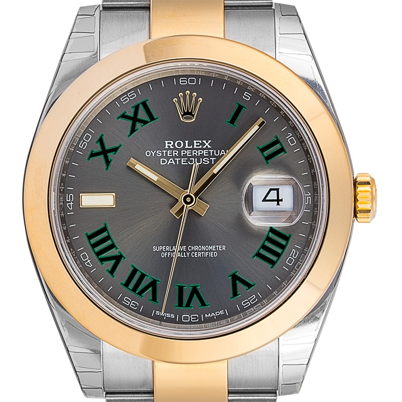 Rolex DateJust 41 Steel and 18ct Yellow Gold Slate Dial 126303