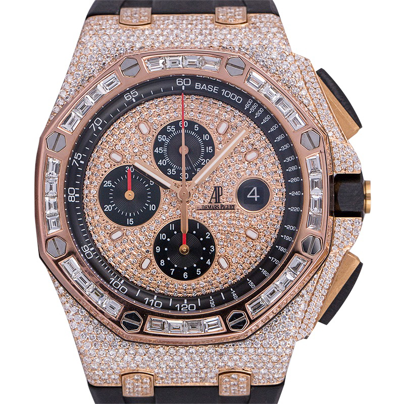Custom Diamond Set Audemars Piguet Royal Oak Offshore 44mm Rose Gold Watch