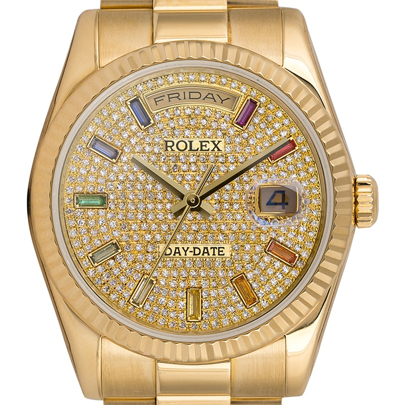 Rolex Day-Date 36 18ct Yellow Gold Custom Dial 118238