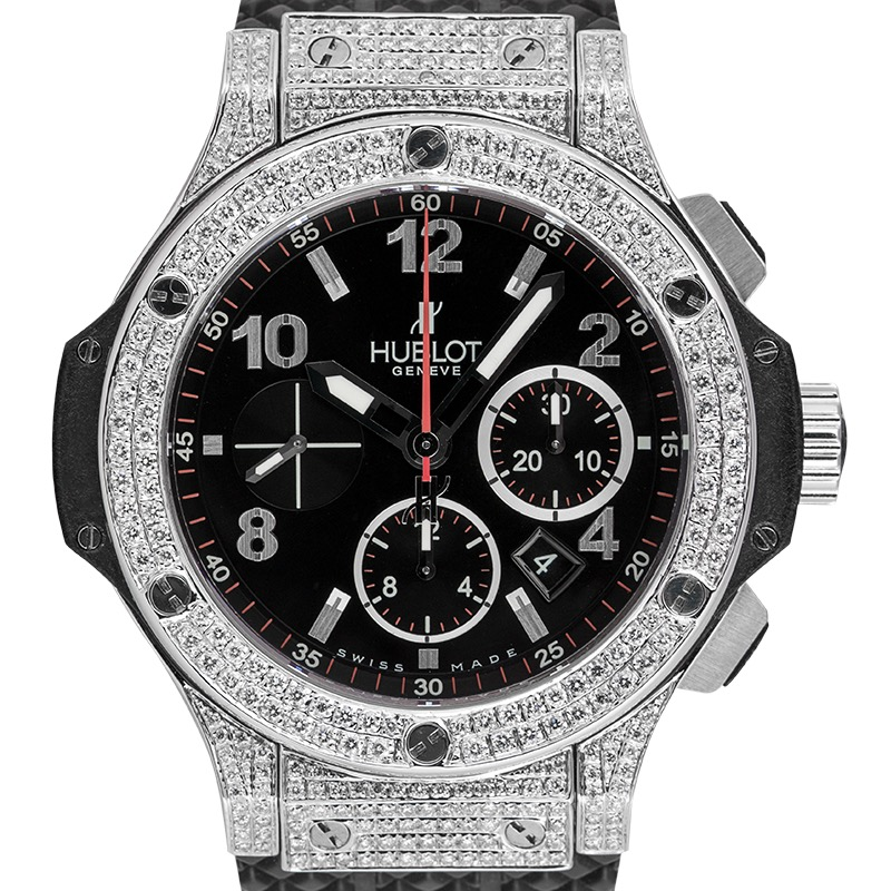 Hublot Big Bang 44mm Steel Custom Diamond Set Watch 301.SX.130.RX
