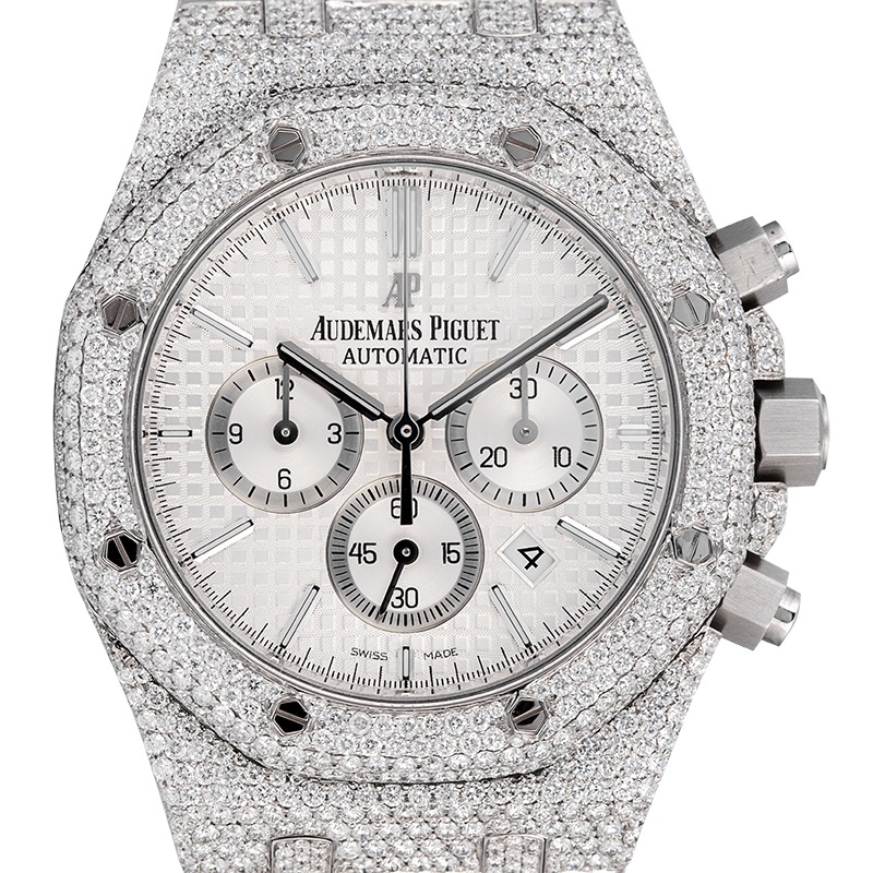 Audemars Piguet Royal Oak Chronograph Custom Diamond Set (Micro) 26320ST.OO.1220ST.02