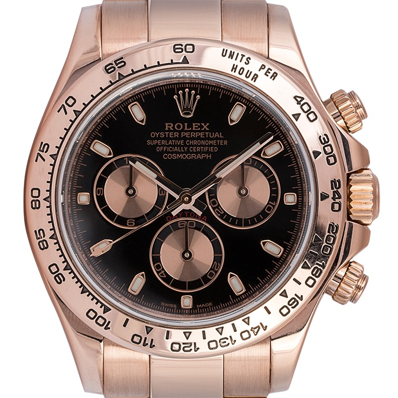 Rolex Daytona 18ct Everose Gold Black/Pink Dial 116505