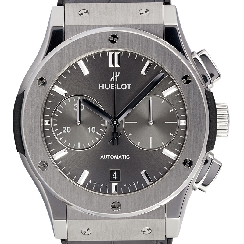 Hublot Classic Fusion Racing Grey Chronograph Titanium 45mm Grey Sunray Satin-finished Dial 521.NX.7071.LR Watch