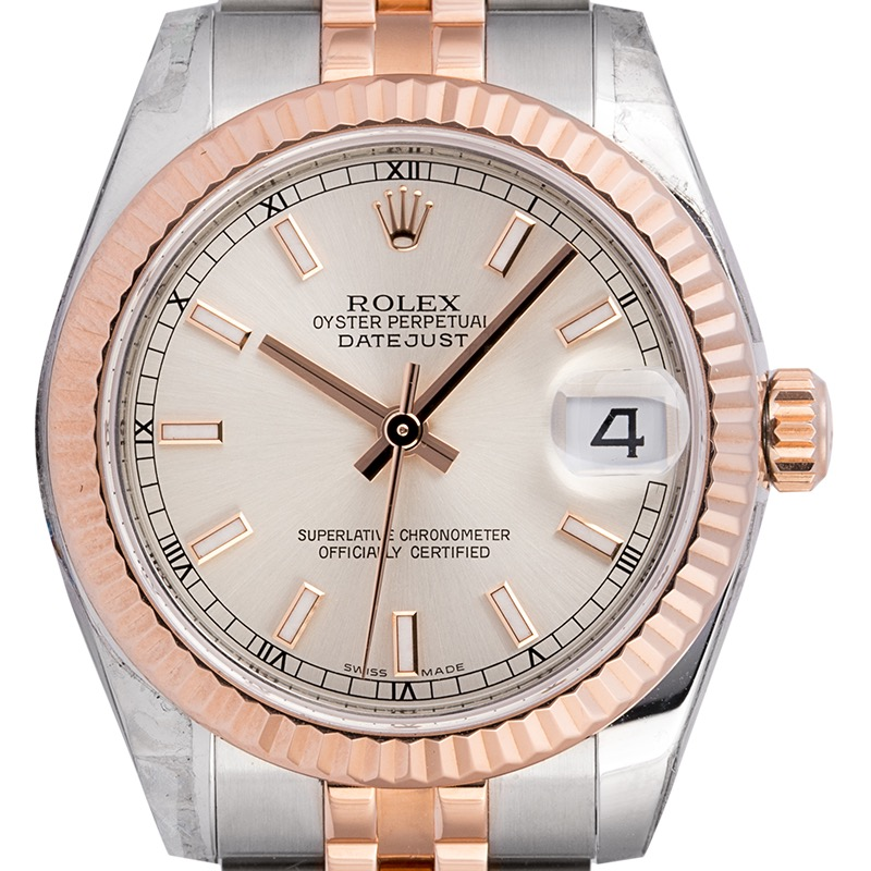 Rolex Lady Datejust 31 Steel/18ct Everose Gold Silver/Index 178271