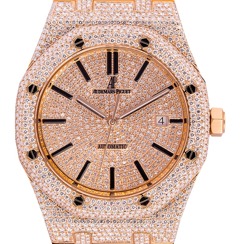 Audemars Piguet Royal Oak 41 Rose Gold Micro Diamond Set