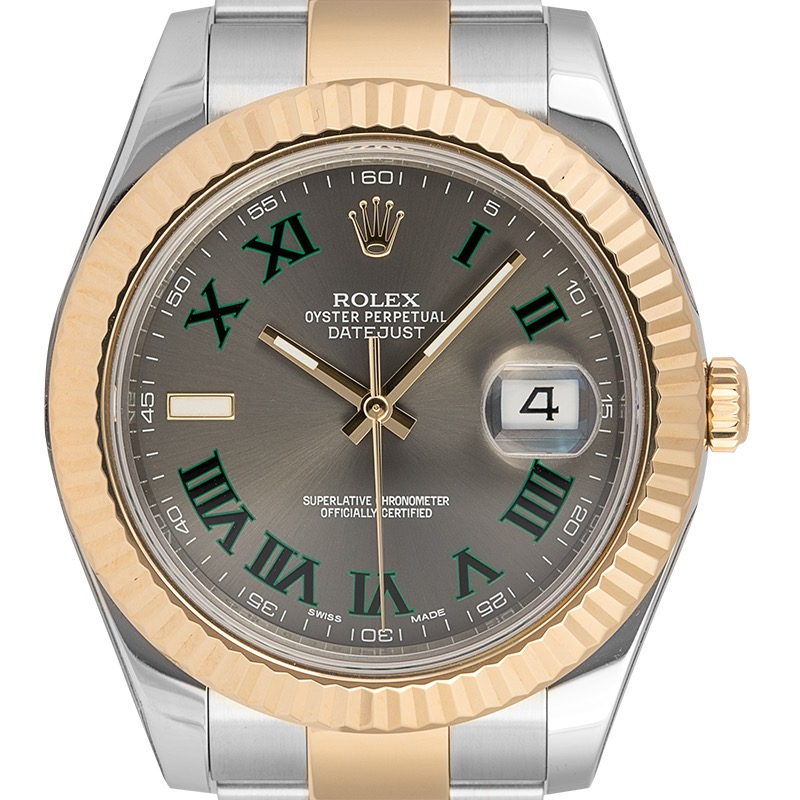Rolex Datejust 41 Oystersteel and Yellow Gold Slate Dial 126333
