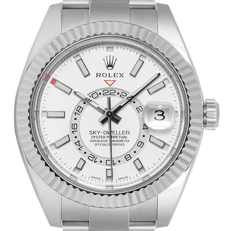 Rolex Sky-Dweller Stainless Steel and White/index Dial 326934