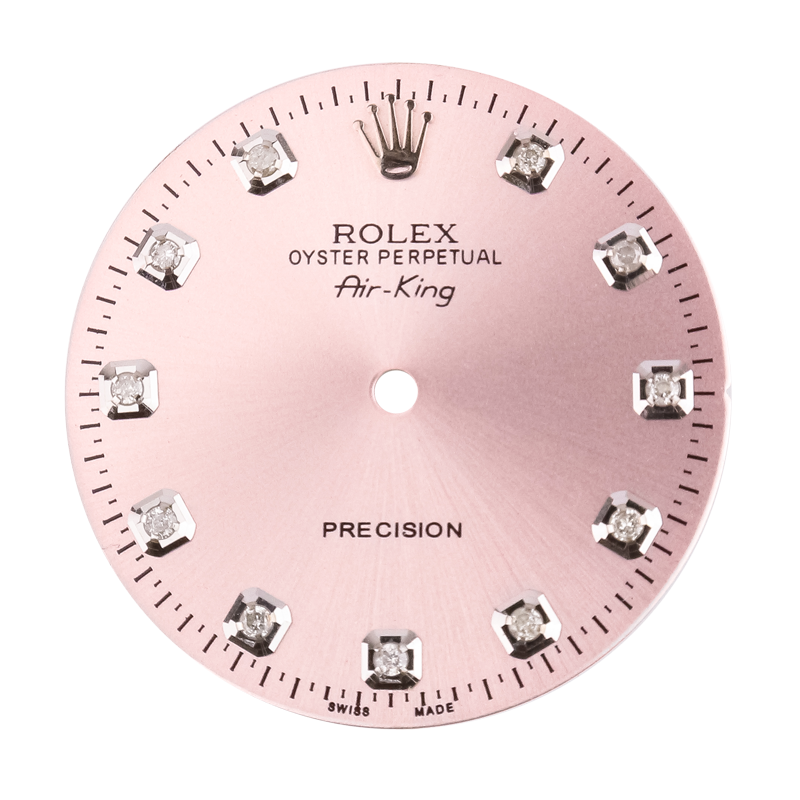 Rolex Air-King 40mm Pink/Diamond Hour Markers Custom Dial
