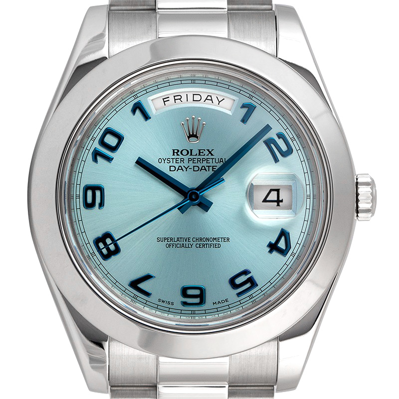 Rolex Day-Date II Platinum Ice-Blue Dial 218206