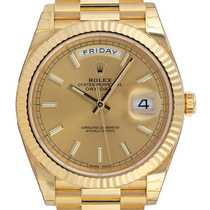 Rolex Day-Date 40 18ct Yellow Gold Champagne Dial 228238