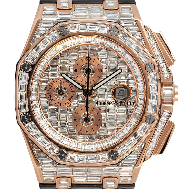 Custom Diamond Set Audemars Piguet Royal Oak Offshore 44 Rose Gold 26401RO.OO.A002CA.01 Watch