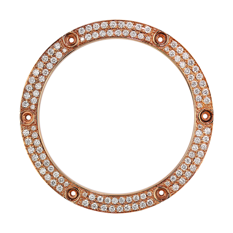 Hublot King Power 48mm Rose Gold Round Brilliant Diamond Custom Bezel