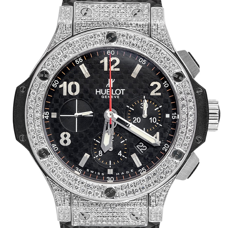 Hublot Big Bang 44mm Steel Custom Diamond Set Watch 301.SB.131.RX