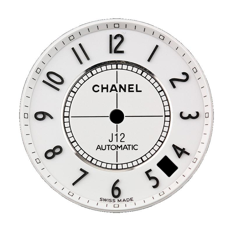 Chanel J12 38mm White/ Black Arabic Numeral Custom Dial