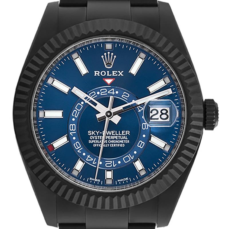 Custom Black PVD Rolex Sky-Dweller Steel white Dial test