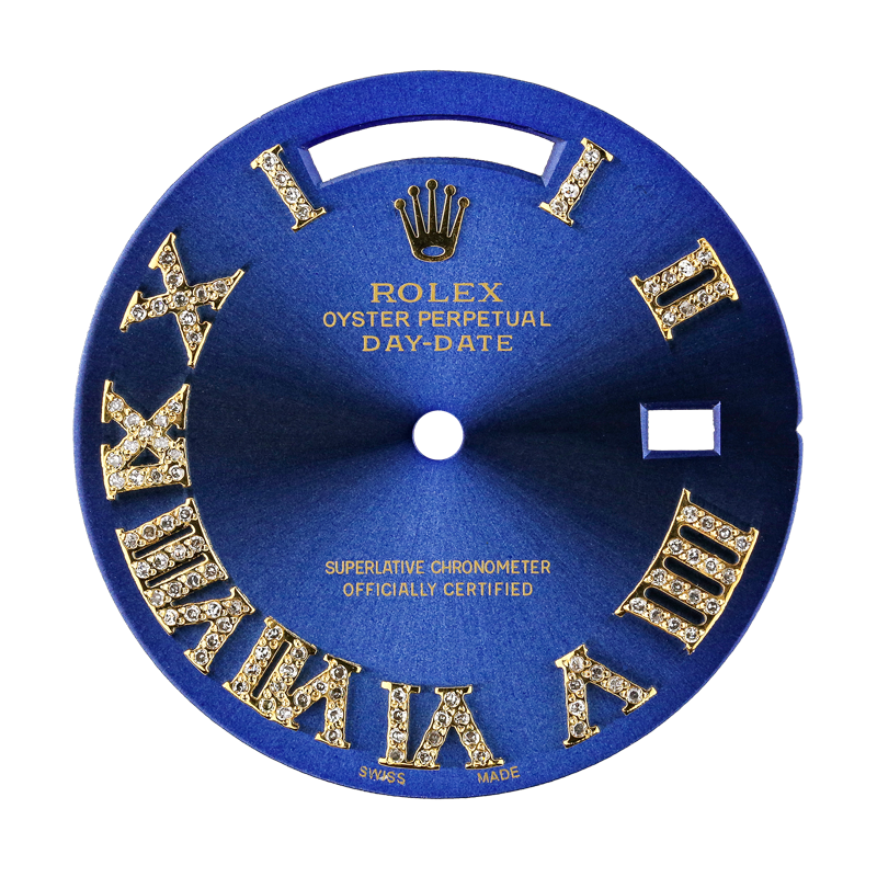 Rolex Day-Date 41mm Blue/Diamond Numerals Custom Dial