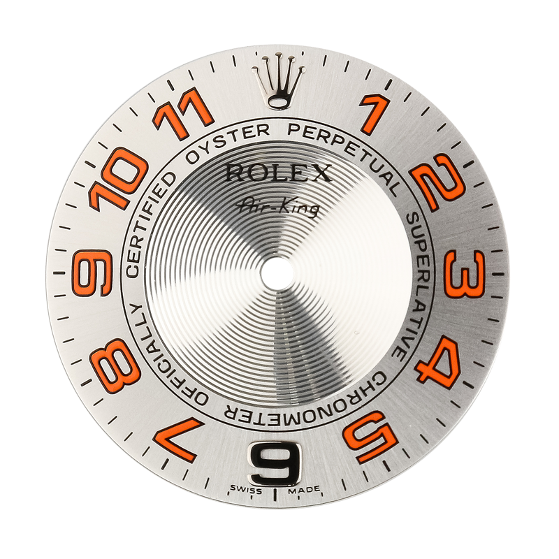 Rolex Air-King 40mm Orange Numerals Original Factory Dial