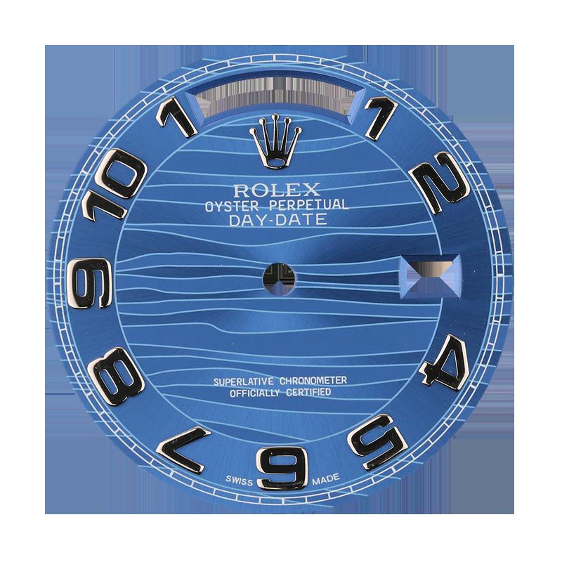 Rolex Day-Date 36mm Blue Wave Original Factory Dial