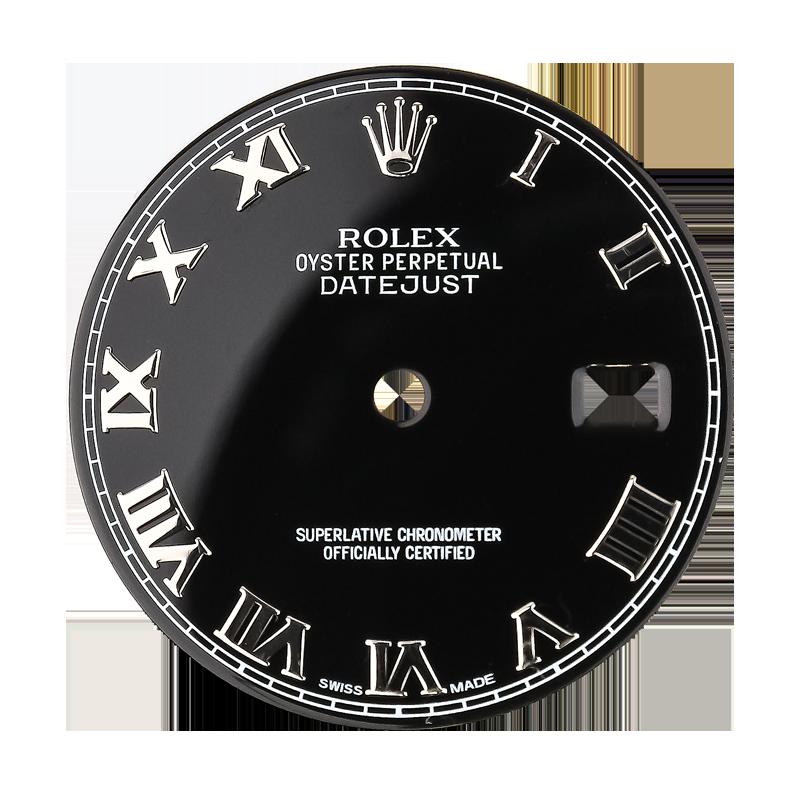 Rolex DateJust 36mm Black Original Factory Dial