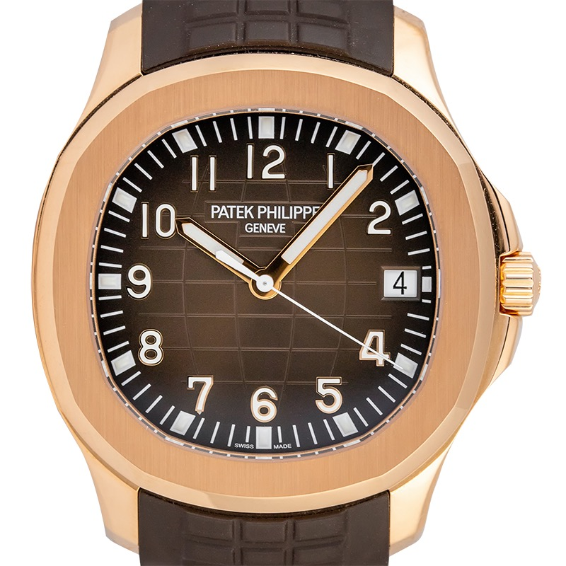 Patek Philippe Aquanaut 5167R Rose Gold Brown Rubber Strap