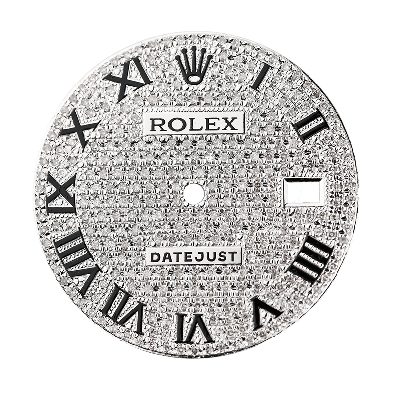Rolex DateJust 41mm Diamond Pavé Custom Dial